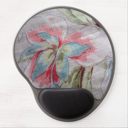 image of a flower gel mousepad