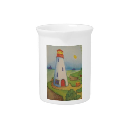 image of a lighthouse pitcher