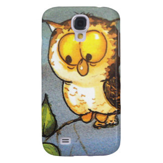 image of a owl galaxy s4 case