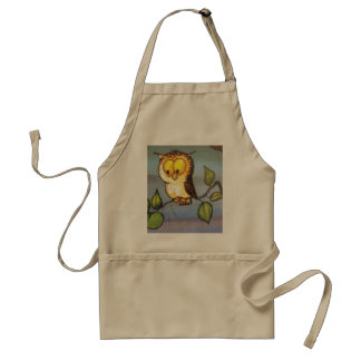 image of a owl standard apron