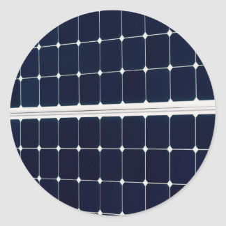 Image of a solar power panel funny classic round sticker