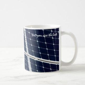 Image of a solar power panel funny coffee mug