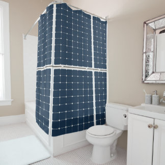 Image of a solar power panel funny shower curtain