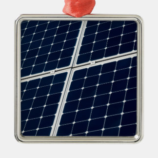 Image of a solar power panel funny Silver-Colored square decoration