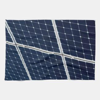 Image of a solar power panel funny tea towel