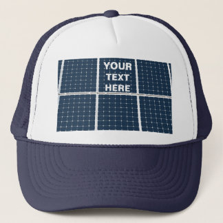 Image of a solar power panel funny trucker hat