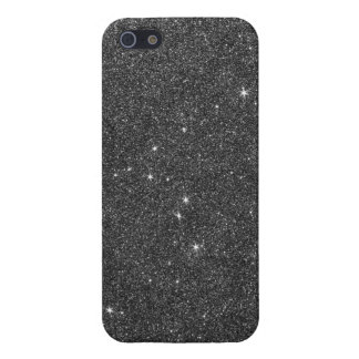 Image of Black and Grey Glitter Case For iPhone 5/5S