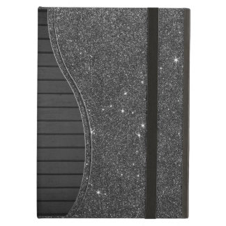 Image of Black and Grey Glitter iPad Air Case