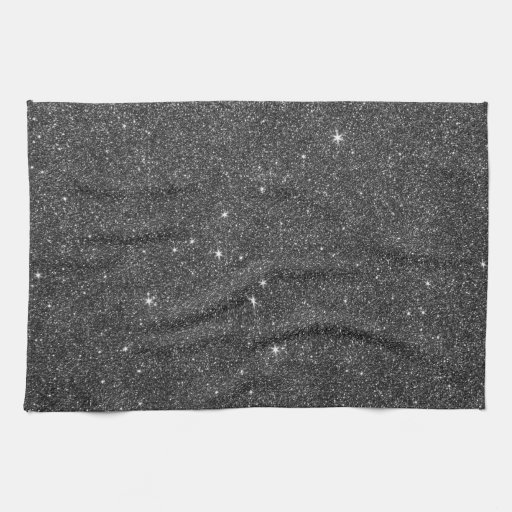 Grey Dish Rags: Image Of Black And Grey Glitter
