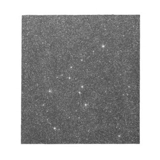 Image of Black and Grey Glitter Notepad