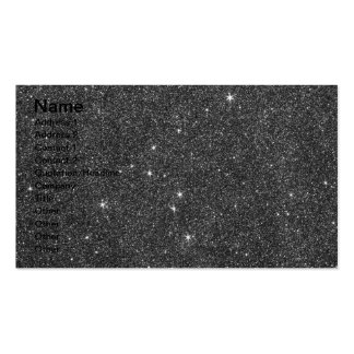 Image of Black and Grey Glitter Pack Of Standard Business Cards