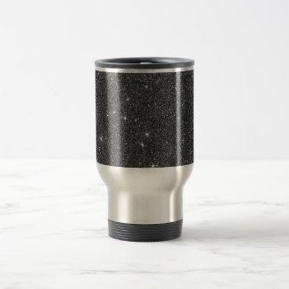 Image of Black and Grey Glitter Travel Mug