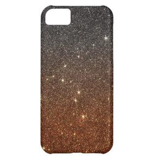 Image of black and orange trendy glitter iPhone 5C case