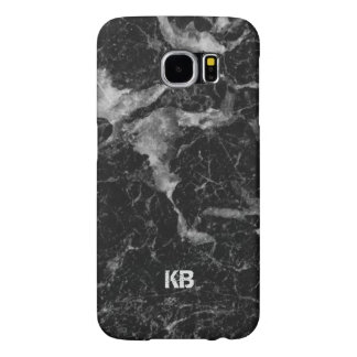 Image Of Black & Gray Marble Texture Samsung Galaxy S6 Cases