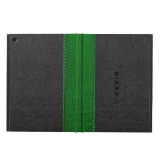 Image Of Black & Green Vintage Leather