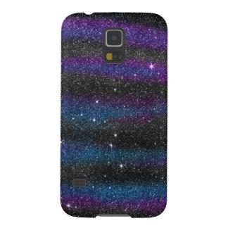 Image of Black Purple Blue Glitter Gradient Galaxy S5 Cover