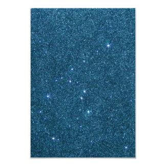 Image of blue trendy glitter card