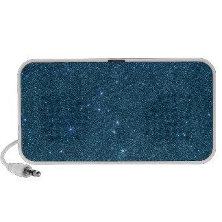 Image of blue trendy glitter iPhone speakers