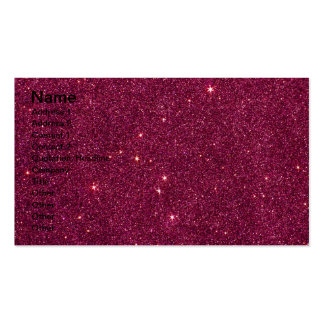 Image of bright pink glitter pack of standard business cards