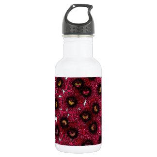 Image of Burgundy Floral Glitter Print 532 Ml Water Bottle
