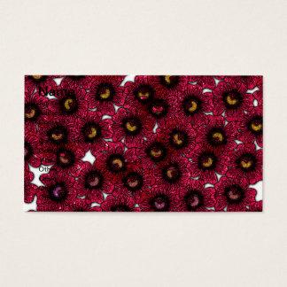 Image of Burgundy Floral Glitter Print Business Card