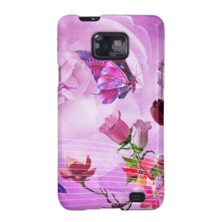 image of butterflies and flowers samsung galaxy SII cases