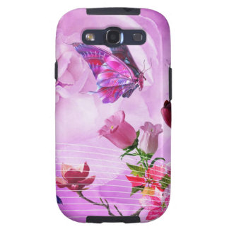 image of butterflies and flowers galaxy SIII cover