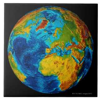Image of Earth 2 Large Square Tile