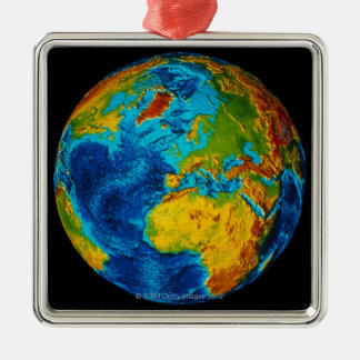 Image of Earth 2 Silver-Colored Square Decoration