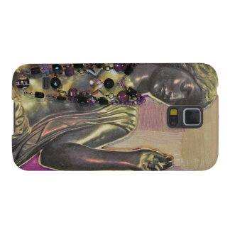 Image of female sculpture on phone cover