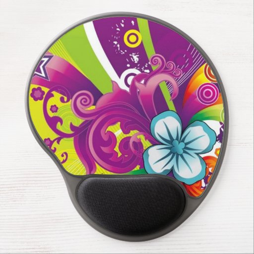 image of flower and butterfly gel mouse pads