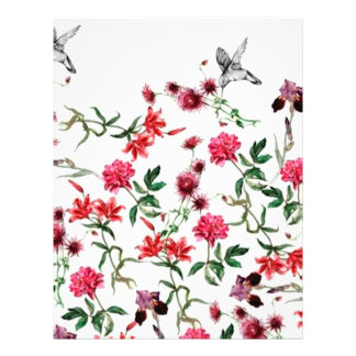 image of flowers and birds 21.5 cm x 28 cm flyer
