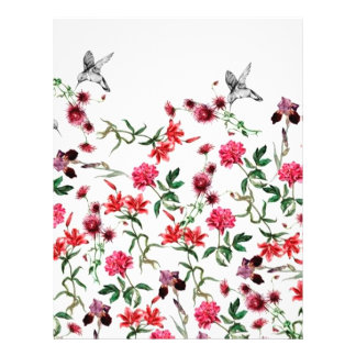 image of flowers and birds