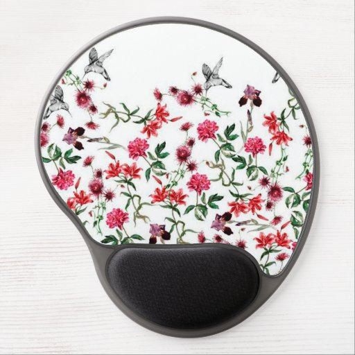 image of flowers and birds gel mousepads
