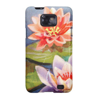 image of flowers in a lake samsung galaxy SII cover
