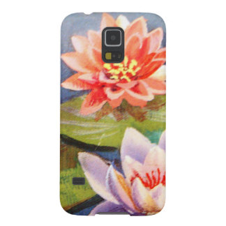 image of flowers in a lake galaxy s5 covers