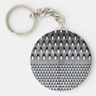 Image of Funny Cheese Grater Basic Round Button Key Ring