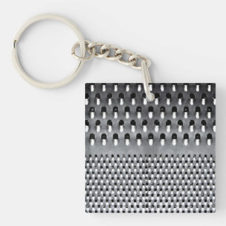 Image of Funny Cheese Grater Single-Sided Square Acrylic Key Ring