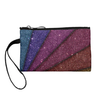 Image of Geometrical Glitter Coin Purse