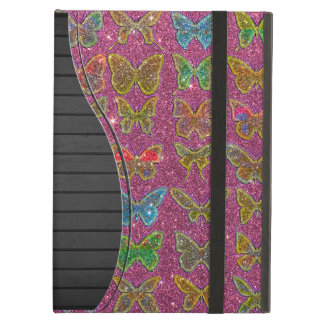 Image of Glitter Colorful Butterflies Case For iPad Air