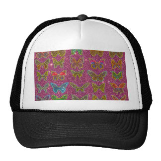 Image of Glitter Colorful Butterflies Trucker Hat