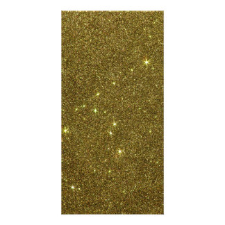 Image of gold Glitter Photo Greeting Card