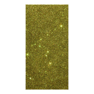 Image of greenish yellow glitter picture card