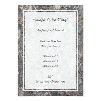 Image of Ground with Stones 13 Cm X 18 Cm Invitation Card