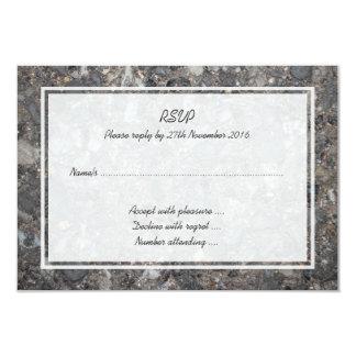 Image of Ground with Stones 9 Cm X 13 Cm Invitation Card