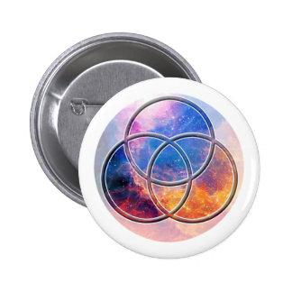 Image of number 3: Triquetra 6 Cm Round Badge