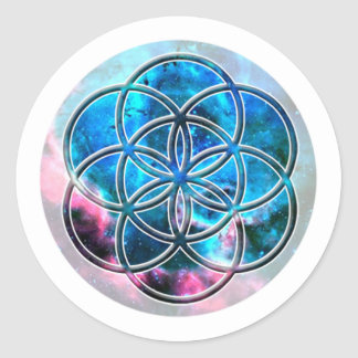 Image of number 7: the Seed of Life Round Sticker