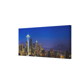 Image of Seattle Skyline in morning hours. Canvas Print