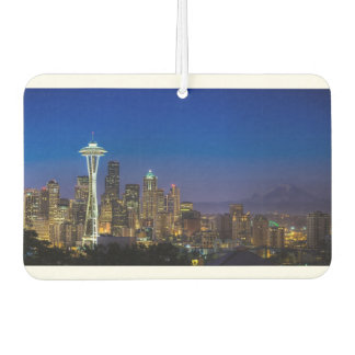 Image of Seattle Skyline in morning hours. Car Air Freshener