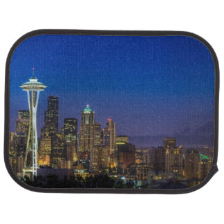 Image of Seattle Skyline in morning hours. Car Mat